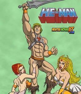 Heman no Porno Com She-Ra e Sua Amiga Gostosa