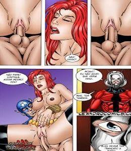 Capitão América e Thor em Quadrinho de Sexo
