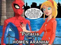 putaria com o homem aranha