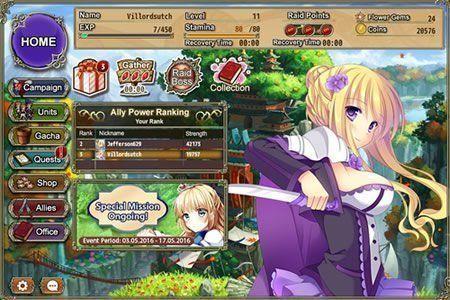 Flower Knight Girl: O jogo perfeito simulador de festa