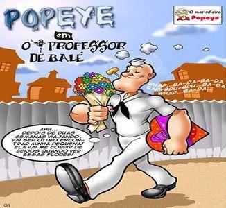 Popeye virou professor de balé