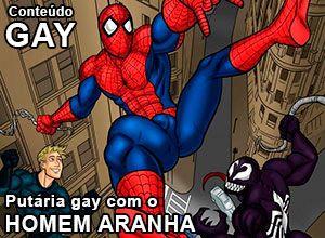 putaria gay com o homem aranha