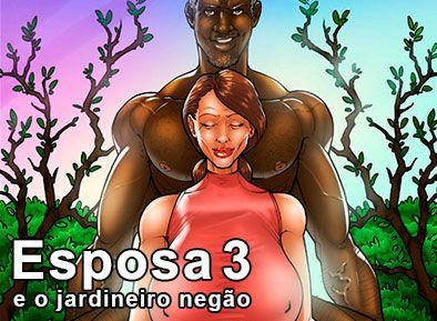 esposa e o jardineiro negão