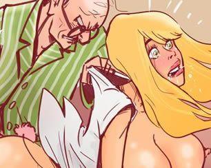 O velho tarado e a enfermeira gostosa
